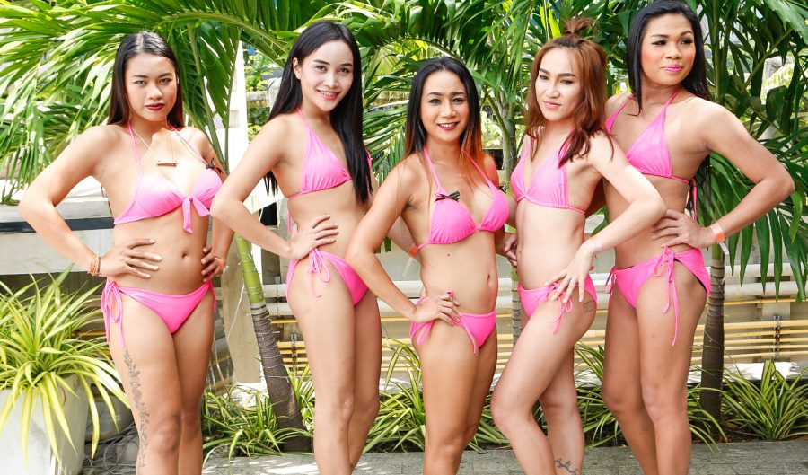 Ladyboy Water Volleyball charity event in Pattaya 5th Nov 2016 at Areca Lodge hotel